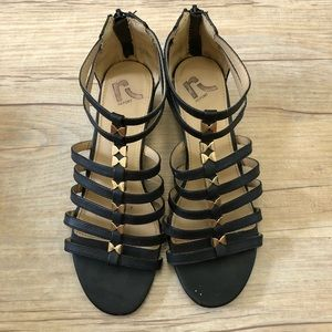 Report Sandals with Rose Gold Bows